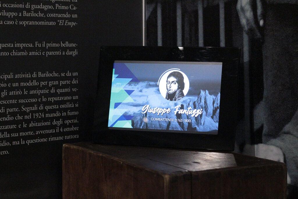 Uno dei personaggi che scoprirà il visitatore del MiM Belluno attraverso la tecnologia dei QR code